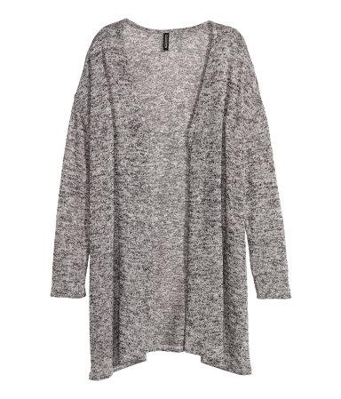 H&M Knit Cardigan in Black Melange
