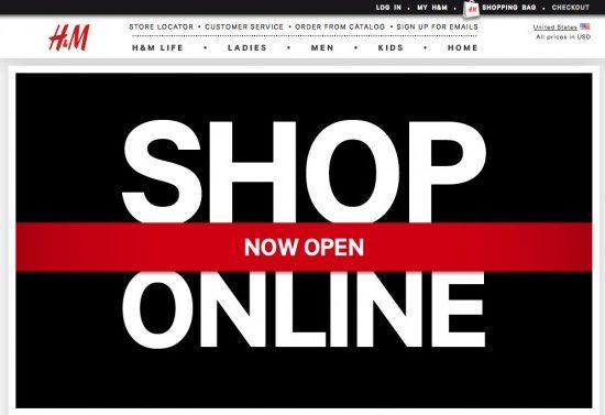 H m online shopping