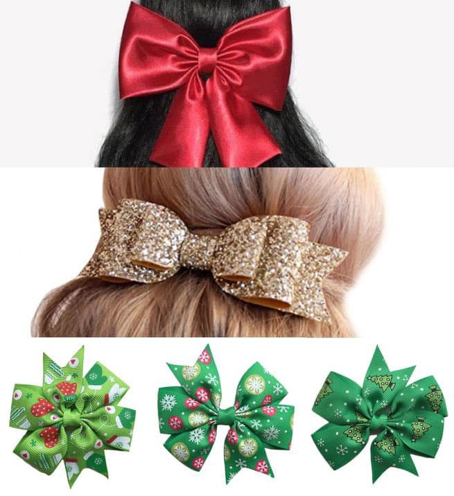 Hair bow holiday hairstyle