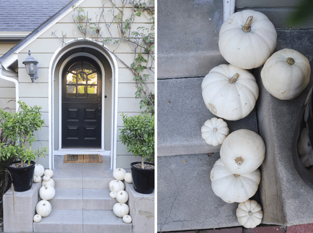 How to decorate your dorm for fall: White pumpkins