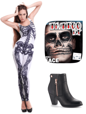 Skeleton halloween outfit idea