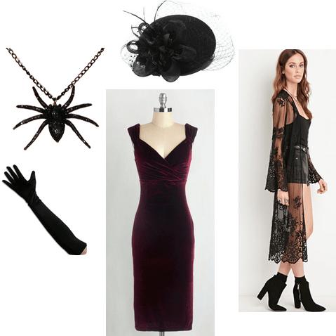 spider necklace halloween look