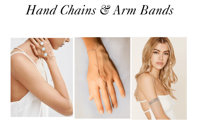 Hand Chains & Arm Bands