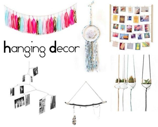 Hanging decor dorm decor