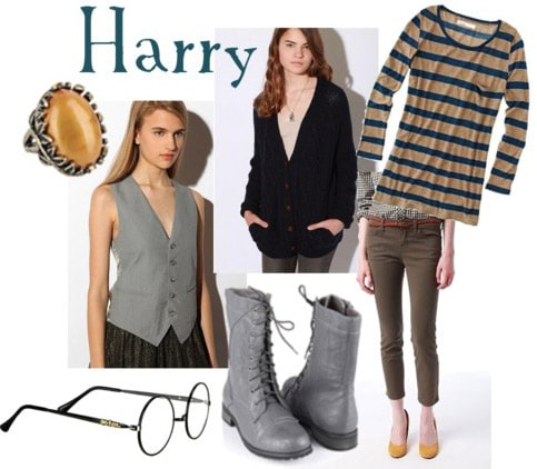 Outfit inspired by Harry Potter's style in The Deathly Hallows Part 1