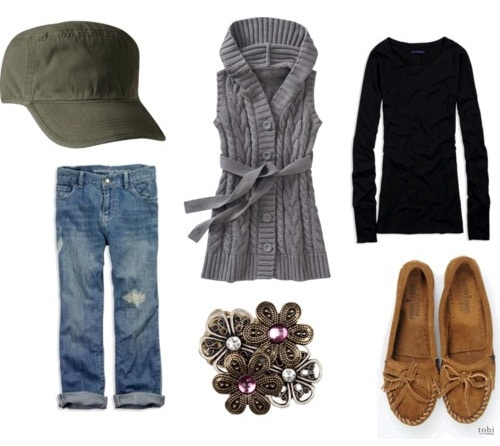 Military hat outfit