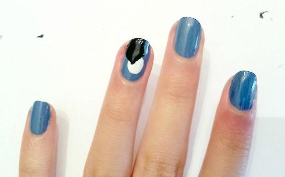 Haunted house nail art step 3