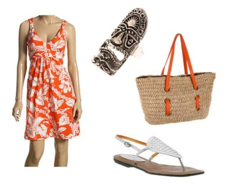 Hawaiian Print Outfit 2