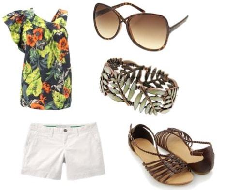 Hawaiian Print Outfit 1