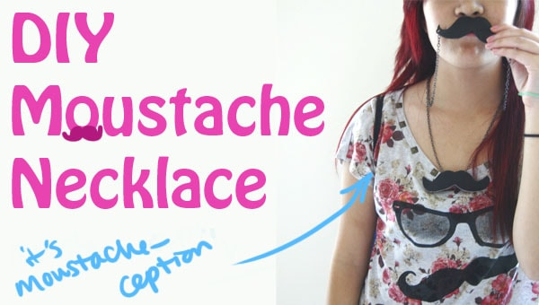 Header DIY Moustache Necklace