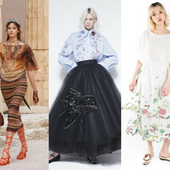 Header: embroidered skirts models