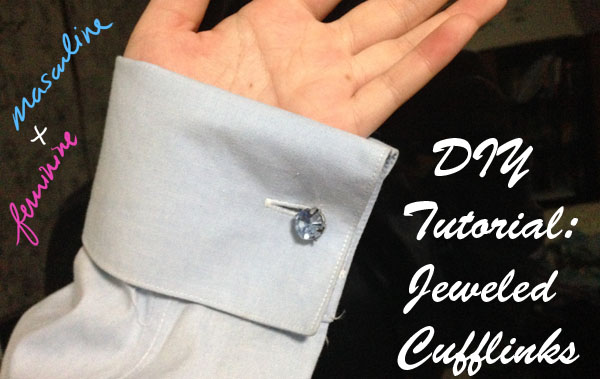 Header image diy cufflinks