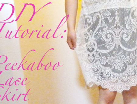 Header image diy lace skirt