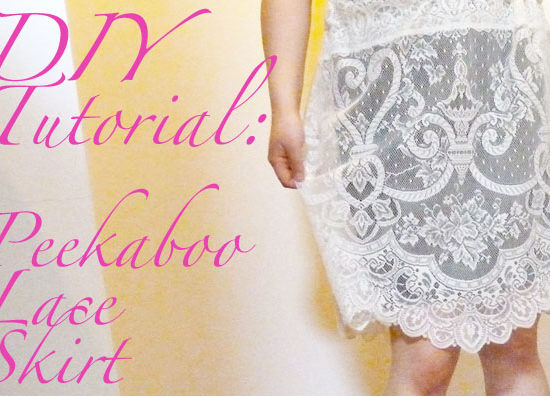 Header image diy lace skirt