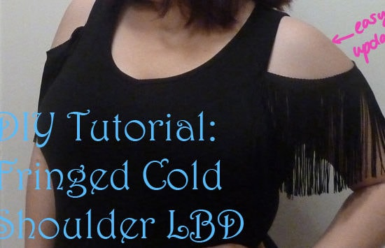 DIY Tutorial: Fringed Cold Shoulder LBD