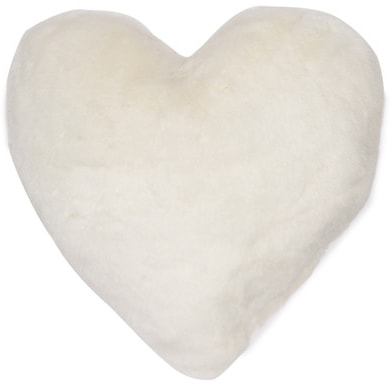 Best things to buy yourself on Valentine's Day: Heart shaped faux fur pillow from Nordstrom Rack