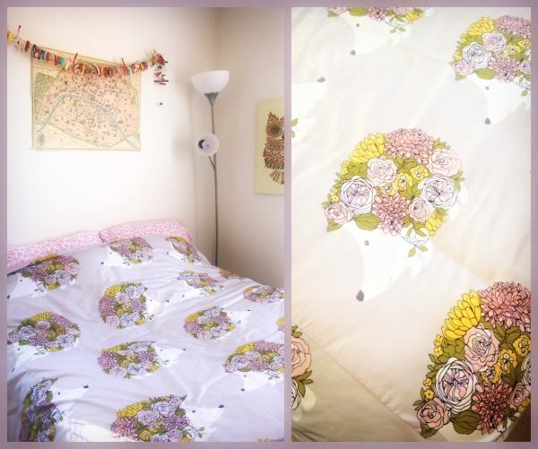 Hedgehog-Floral-Gray-Bedding-Mod-Cloth