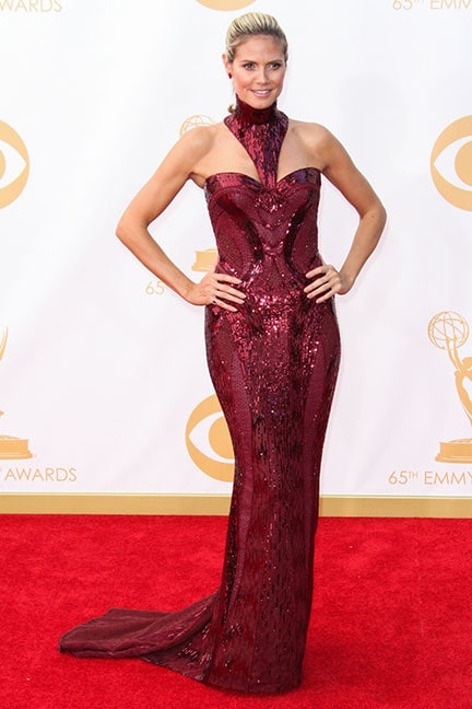 Heidi Klum in Versace at the 2013 Emmys
