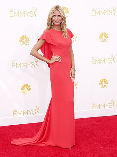Heidi Klum in Zac Posen at the 2014 Emmy Awards