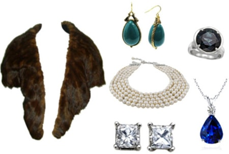 Heirloom fashion pieces- furs, diamonds, etc.