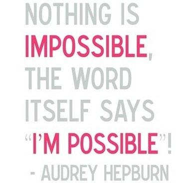 Hepburn motivation quote