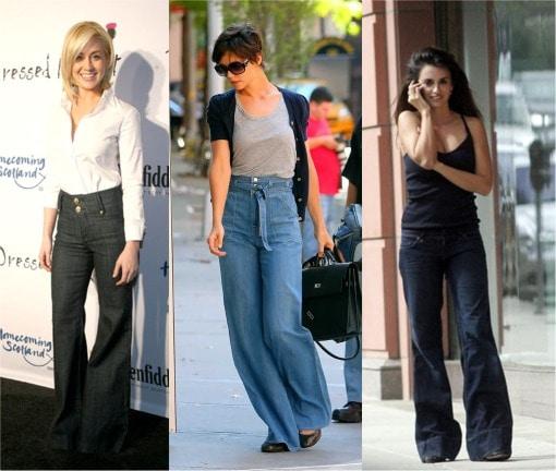 denim trousers on celebrities