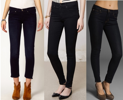 High waisted black ankle jeans