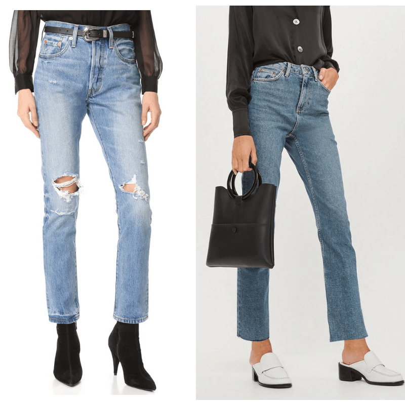 High waisted jeans to get Kendall Jenner's style