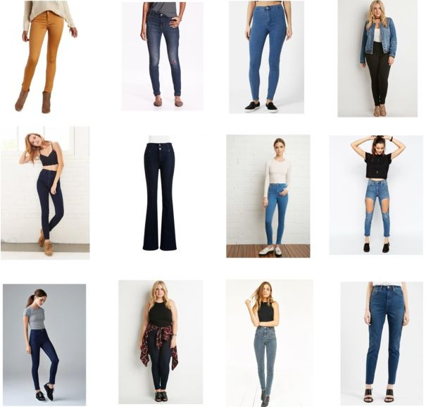 high-waist jeans shopping