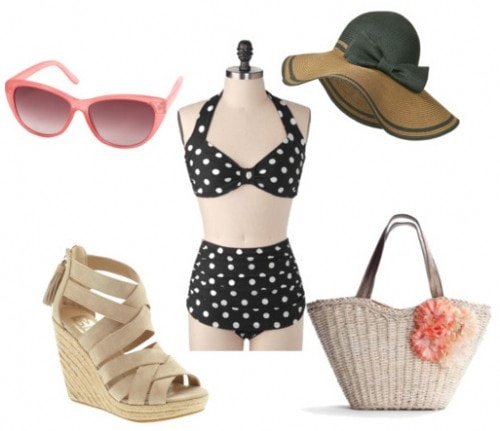 High Waisted Swimsuit Sample Outfit