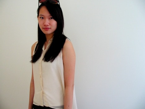 McGill University fashion - sheer chiffon blouse