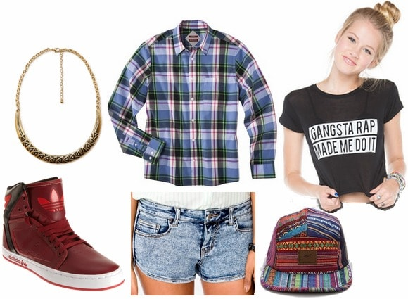 Hip hop inspired outfit