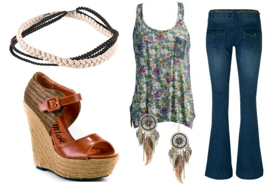 How to wear a hippie headband - outfit 1