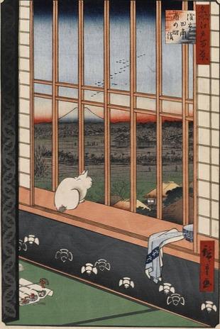 Hiroshige cat dress