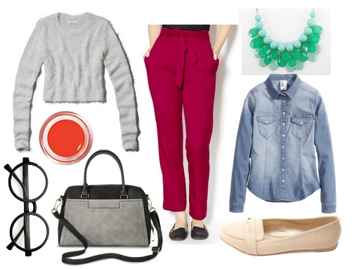 Hiroshige cropped sweater outfit2