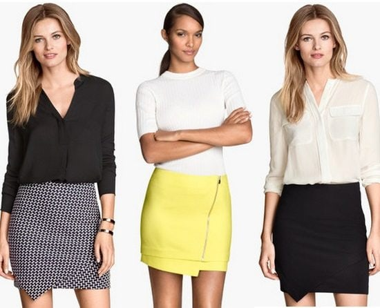 H&M Asymmetrical Skirts