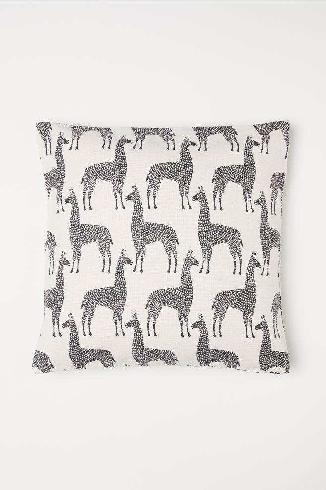 H&M white and black zebra throw pillow cushion cover.