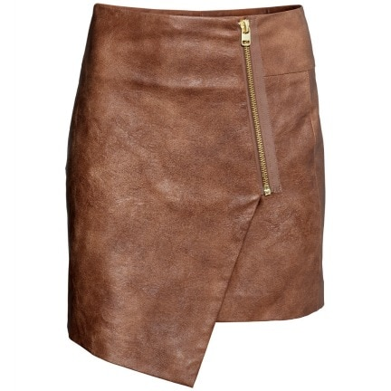 H&m faux leather wrap skirt