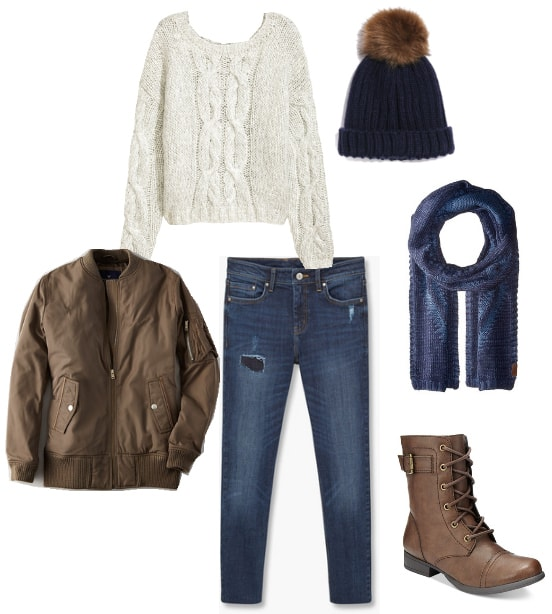 cute menswear inspired winter outfit