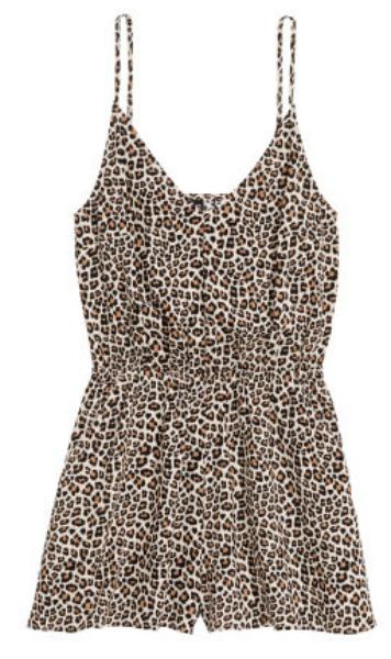 H&M leopard romper