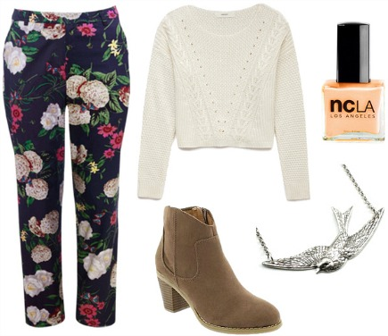 Hokusai canrary floral outfit
