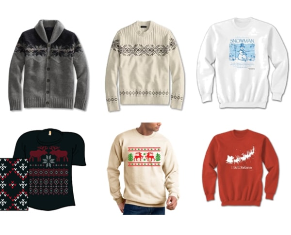 Holiday Sweater Layout