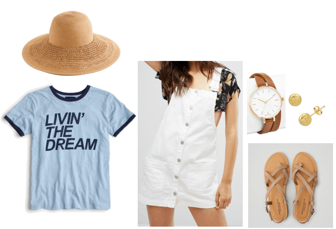 Horoscope outfit 3: Pisces tee; fun in the sun inspired