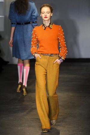 House of Holland Orange sweater with yellow orange pants