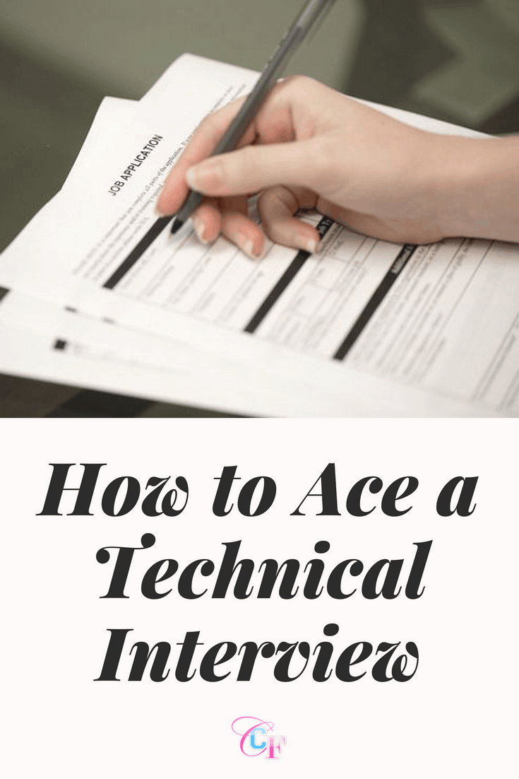 How to ace a technical interview - tips for interviews in computer science and engineering