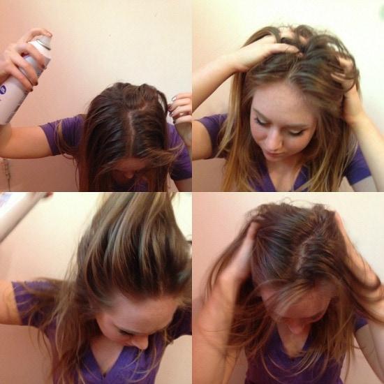 How to apply dry shampoo