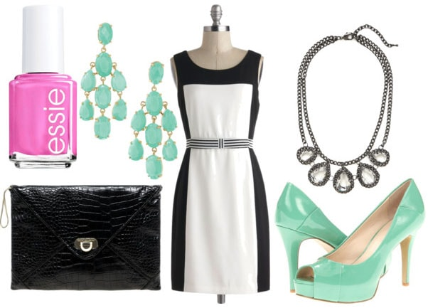 fa3bad42a3c Class to Night Out: Black and White Dress - College Fashion