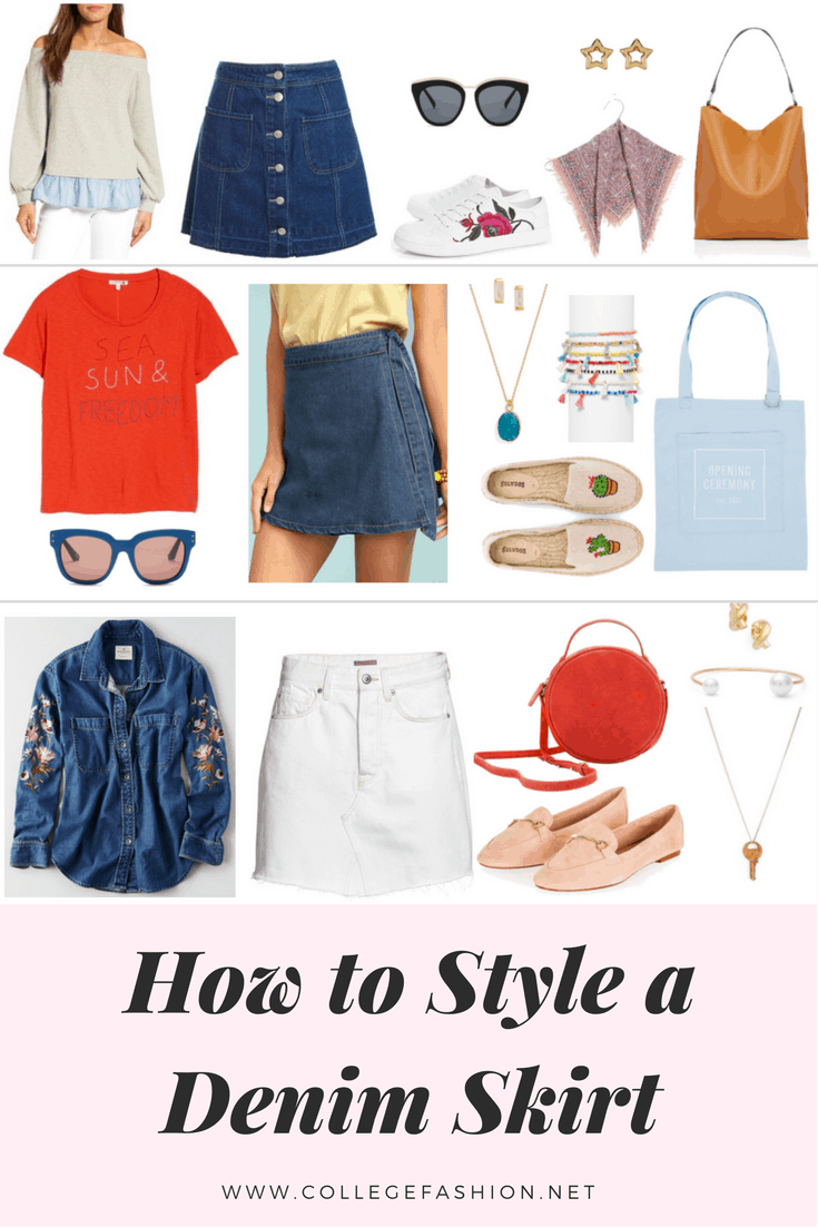 How to style a denim skirt: Outfit ideas for a modern take on the denim skirt trend