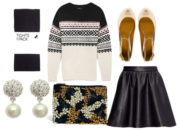 How to style a fair isle sweater for night