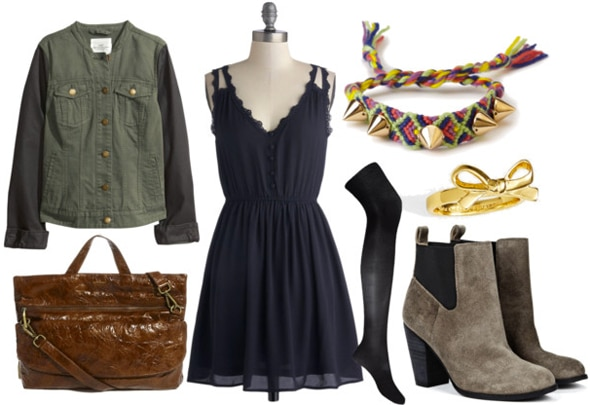 How to style a little navy dress for day